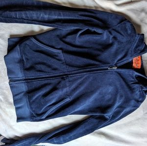 Juicy couture velour navy blue hoodie track suit